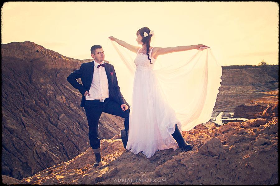 Sesja ślubna w piaskowni