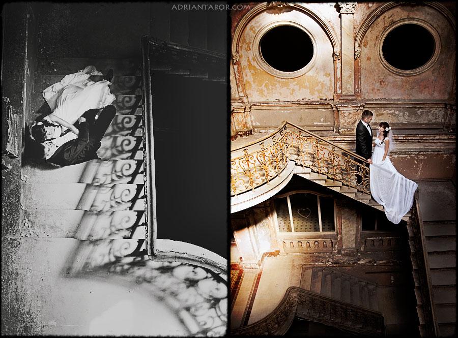 Sesja ślubna w starym pałacu