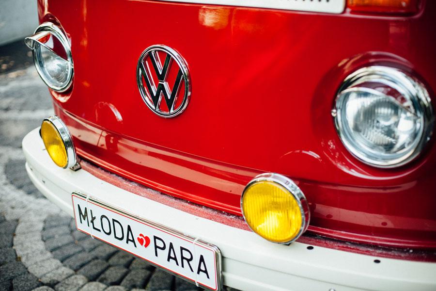 auto do ślubu VW Ogórek T2