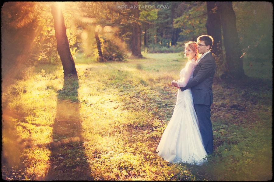 Plener ślubny w parku w Świerklańcu